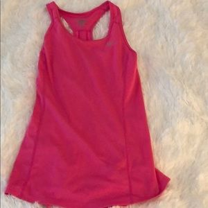 Nike hot pink exercise tank - S